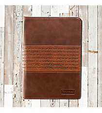Two-Tone 'Strong and Courageous' Flexcover Zippered Journal #JL138