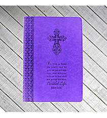 John 3:16 Purple LuxLeather Flexcover Journal #JL176