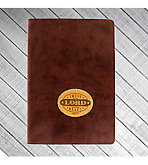 Proverbs 3:5 Brown LuxLeather Flexcover Journal #JL178