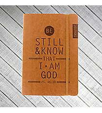 Psalm 46:10 Brown LuxLeather Flexcover Journal #JL185