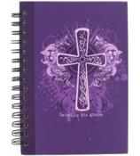 """Saved by His Grace"" Large Wirebound Journal #JLF068"