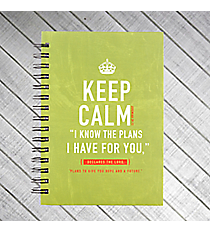 """Keep Calm"" Jeremiah 29:11 Large Wirebound Journal #JLW029"