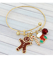 Gold Christmas Gingerbread Bangle #JTB0219-G