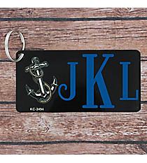 Anchor Print Metal Keychain #KC-3494