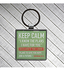Keep Calm Jeremiah 29:11 Metal Keyring #KEP033