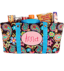 Whimsical Wonderland Collapsible Haul-It-All Utility Basket #KPQ401-TURQ