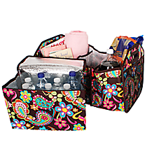 Whimsical Wonderland Utility Storage Tote with Insulated Bag #KPQ516-BROWN