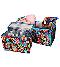 Whimsical Wonderland Utility Storage Tote with Insulated Bag #KPQ516-TURQ