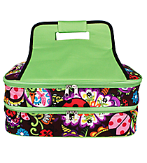 Ladybug Garden Insulated Double Casserole Tote #LAB391-LIME