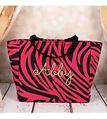 Fuchsia Zebra Insulated Lunch Bag #LB103-163-B/F