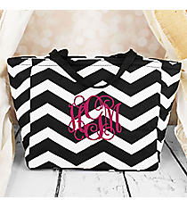 Black and White Chevron Insulated Lunch Bag #LB103-165-B/W