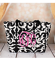 Black and White Damask Insulated Lunch Bag #LB103-501