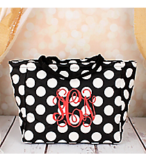 Black with White Polka Dots Insulated Lunch Bag #LB103-635