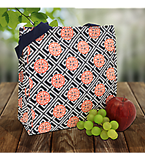 Navy and Orange Lucky Girl Power Lunch Tote #LG-PL-000257