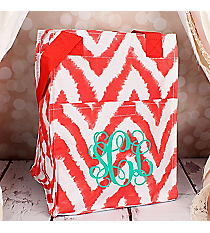Red Airbrushed Chevron Insulated Lunch Tote #LT11-1330-2