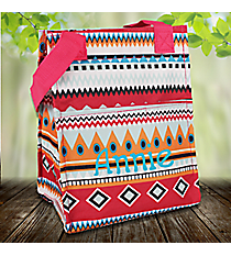 Pink Aztec Insulated Lunch Tote #LT11-705