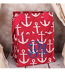 Pink and White Anchor Insulated Lunch Tote #LT11-706-P