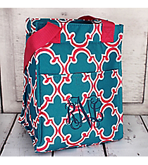 Blue and Pink Moroccan Insulated Lunch Tote #LT11-708-BL