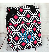 Black and Pink Diamond Daze Insulated Lunch Tote #LT11-709-BK