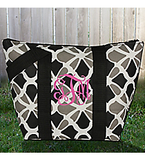 Petals in Black Insulated Lunch Bag #LT15-1348-BK