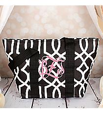 Black Trellis Insulated Lunch Bag #LT15-1349-BK