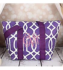 Purple Trellis Insulated Lunch Bag #LT15-1349-PU