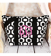 Black Mod Squares Insulated Lunch Bag #LT15-1350-BK
