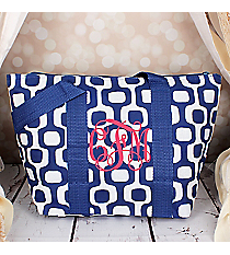 Blue Mod Squares Insulated Lunch Bag #LT15-1350-BL