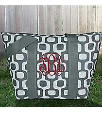 Gray Mod Squares Insulated Lunch Bag #LT15-1350-GR