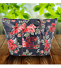 Blue Rose Laminated Insulated Lunch Bag #LT015-3005