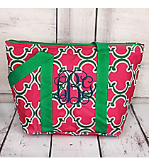 Pink and Green Moroccan Insulated Lunch Bag #LT15-708-P