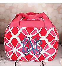 Petals in Pink Bowler Style Insulated Lunch Bag #LT9-1348-P