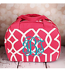 Pink Trellis Bowler Style Insulated Lunch Bag #LT9-1349-P