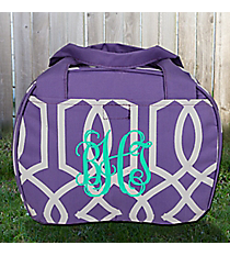 Purple Trellis Bowler Style Insulated Lunch Bag #LT9-1349-P