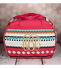 Pink Aztec Bowler Style Insulated Lunch Bag #LT9-705