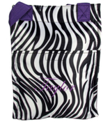 Zebra with Purple Trim Insulated Lunch Tote #LT11-2006-PU