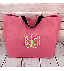 Baby Pink Canvas Tote Bag #M818-BABYPINK