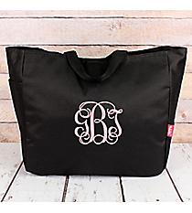 Black Canvas Tote Bag #M818-BLACK
