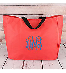 Coral Canvas Tote Bag #M818-CORAL
