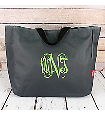 Gray Canvas Tote Bag #M818-GRAY