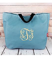 Sky Blue Canvas Tote Bag #M818-SKYBLUE
