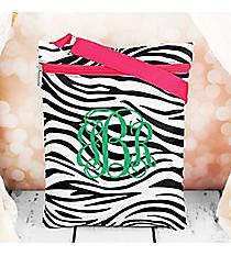 Zebra with Pink Trim iPad Messenger Bag #MB3-2006-P