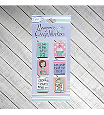 Holly & Hope 6-Piece Magnetic Page Marker Set #MGB034