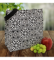 Black and White Medallion Madness Power Lunch Tote #MM-PL-000027