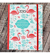 Proverbs 16:3 Flamingo 2015 Weekly Planner #MYD038