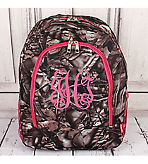 BNB Natural Camo Large Backpack with Hot Pink Trim #N403-HPINK