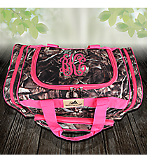 "17"" BNB Natural Camo Duffle with Hot Pink Trim #N417-HPINK"