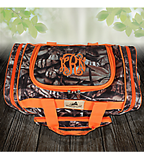 "17"" BNB Natural Camo Duffle with Orange Trim #N417-ORANGE"