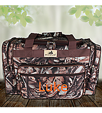 "20"" BNB Natural Camo Duffle with Brown Trim #N420-BROWN"