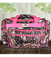 "20"" BNB Natural Camo Duffle with Hot Pink Trim #N420-HPINK"